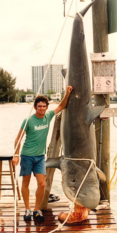 a 764 lb IGFA World Record Dusky Shark