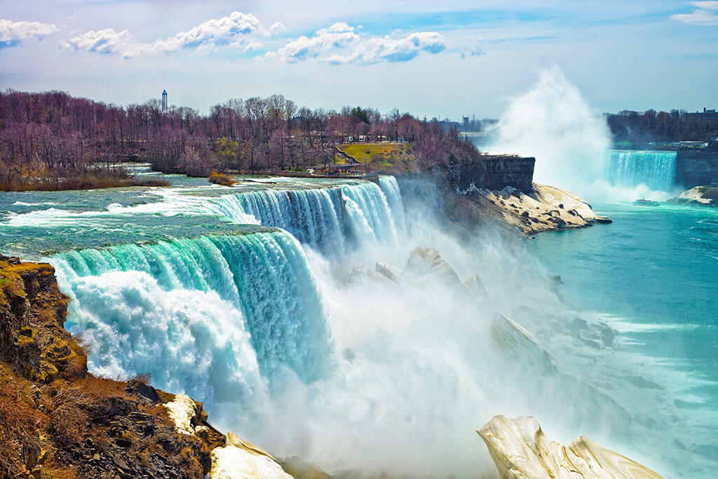 A view from the American side of Niagara Falls