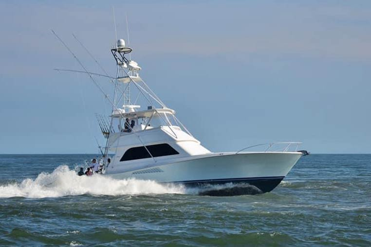 A fishing charter from Ocean City speeds offshore