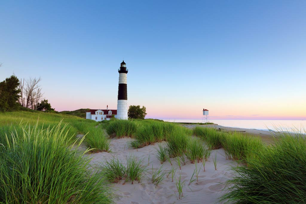 Big Sable Point Lighthouse on Lake Michigan