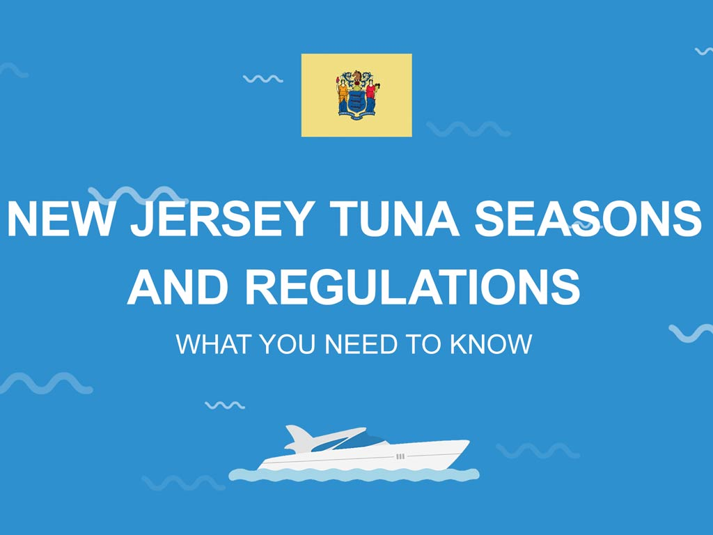 An infographic about Tuna fishing seasons and regulations in New Jersey