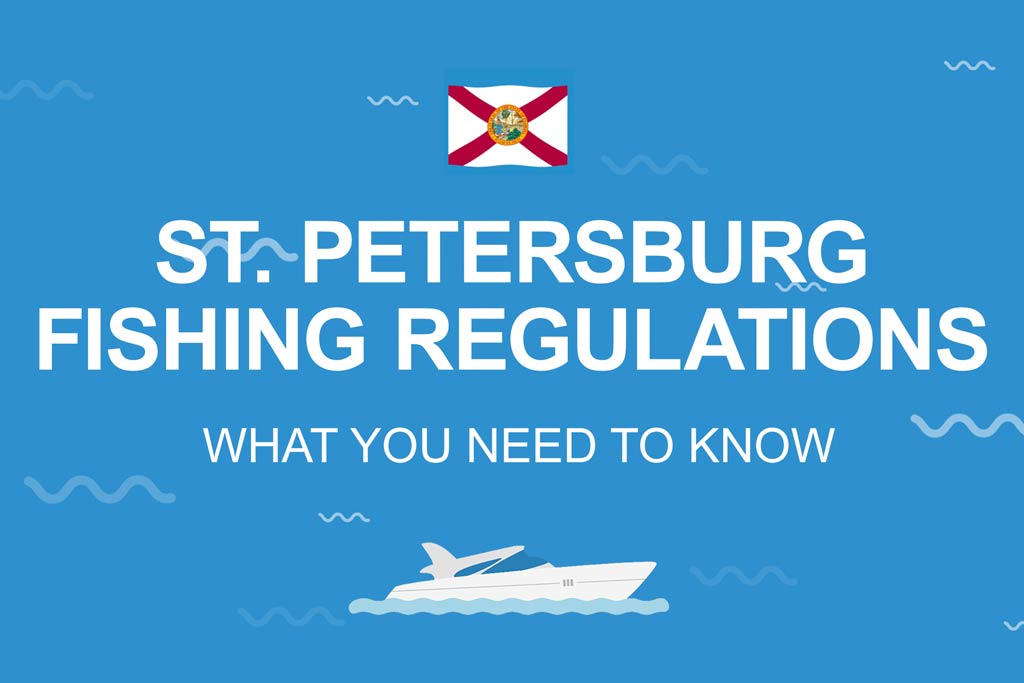 """An infographic with the Florida flag, charter boat, and words """"St. Petersburg fishing regulations; What you need to know"""" on it"""