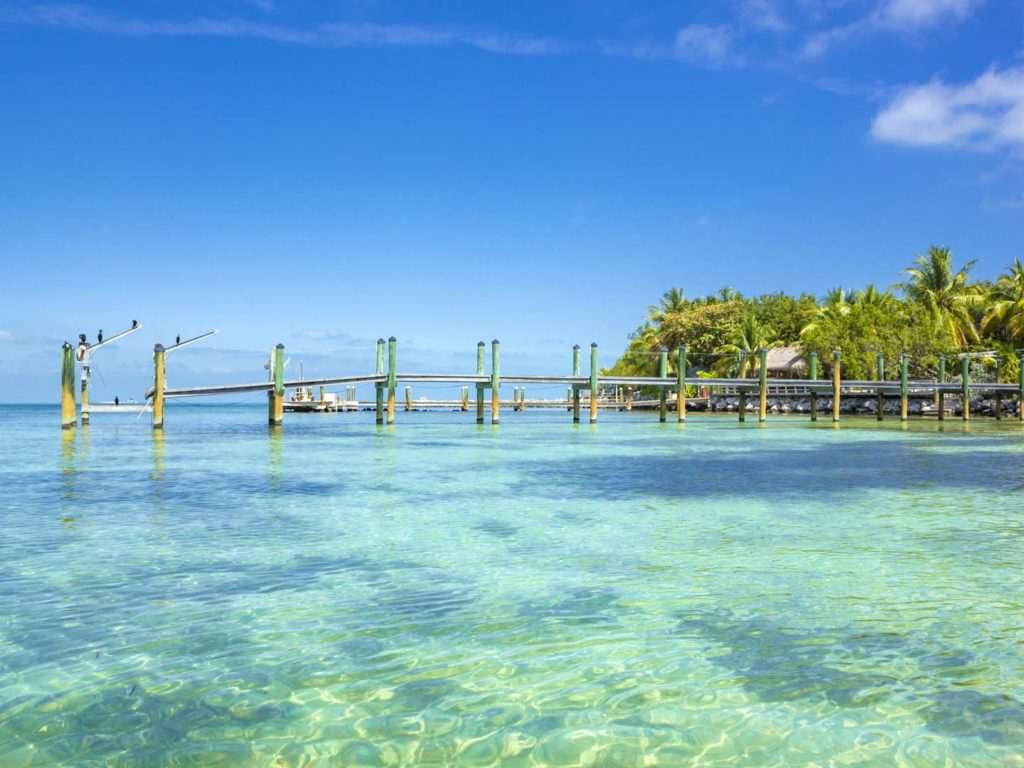 The shallow waters of the Florida Keys