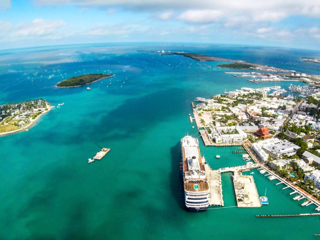 Aerial view of Key West in Florida