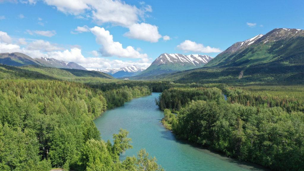 Kenai River in Cooper Landing, Alaska