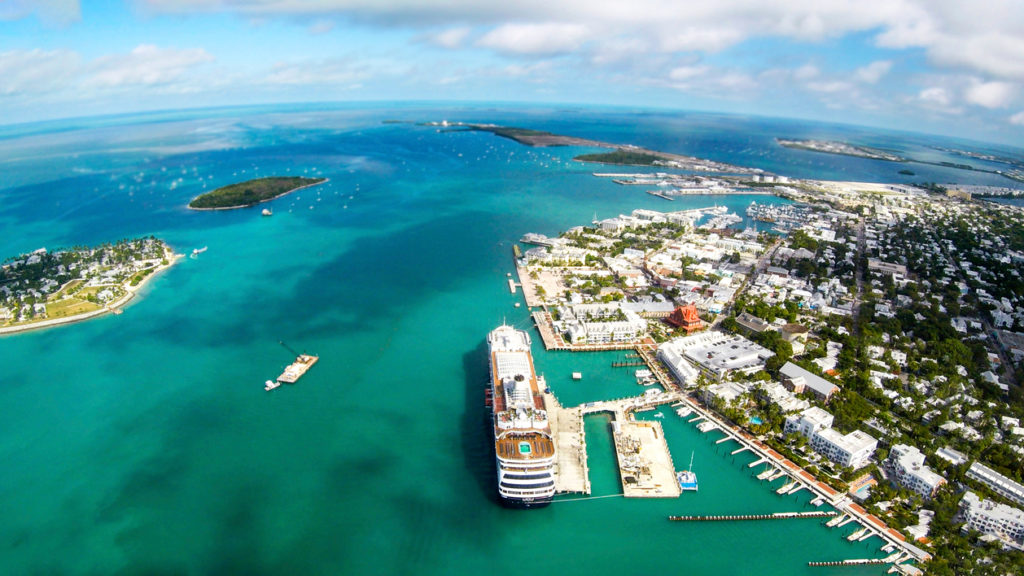 An aerial view of Key West in Florida