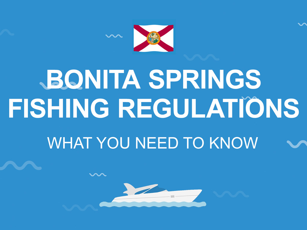 An infographic that says 'Bonita Springs Fishing Regulations' against a blue background.