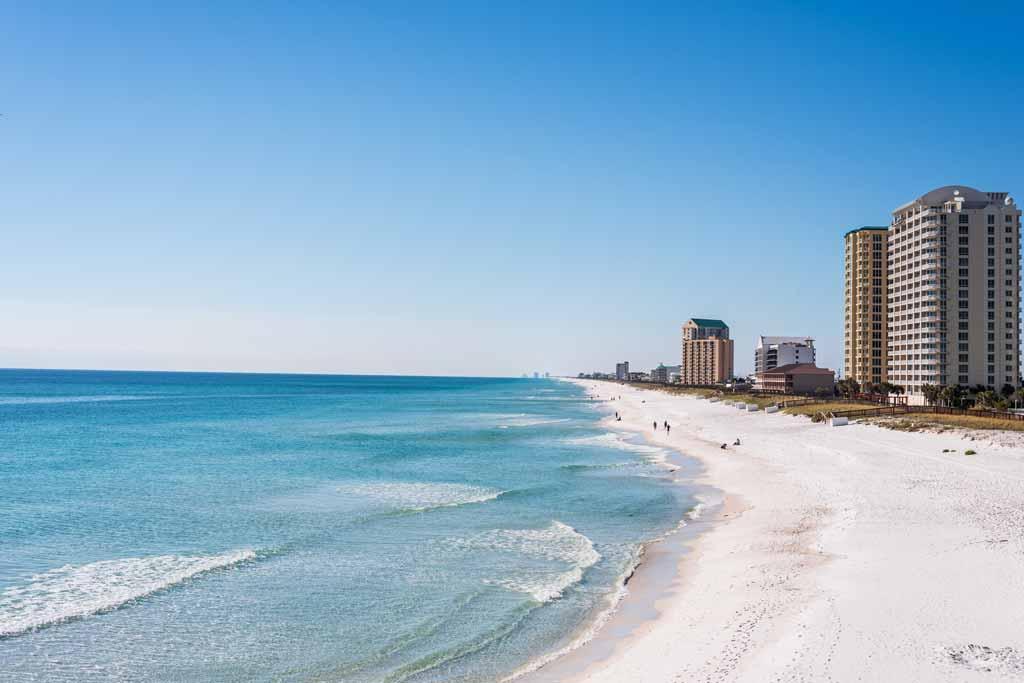 White sand beach of Navarre, Florida