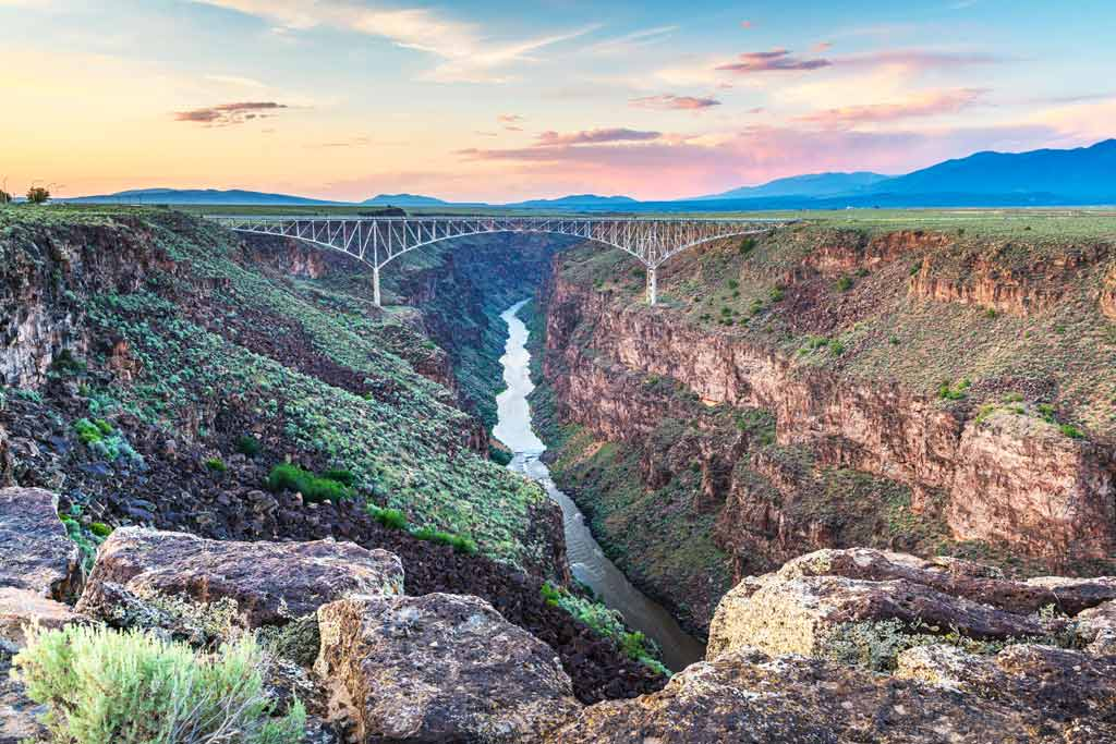 The Rio Grande Canyon near Taos, New Mexico