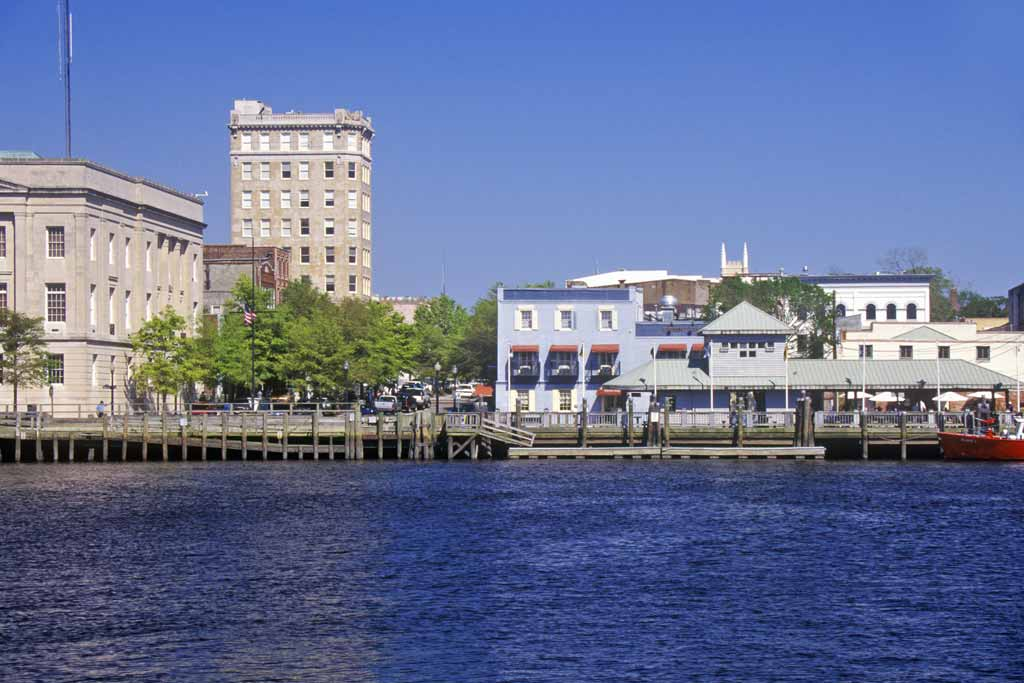 A view of Wilmington downtown from the river