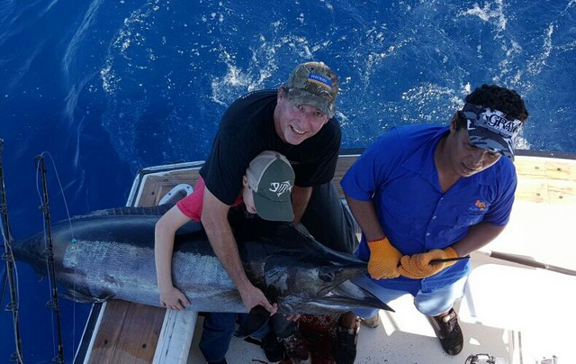 Marlin fishing with the family