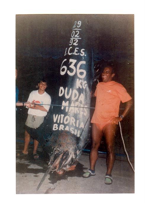 a 1402 lb 2 oz IGFA World Record Atlantic Blue Marlin
