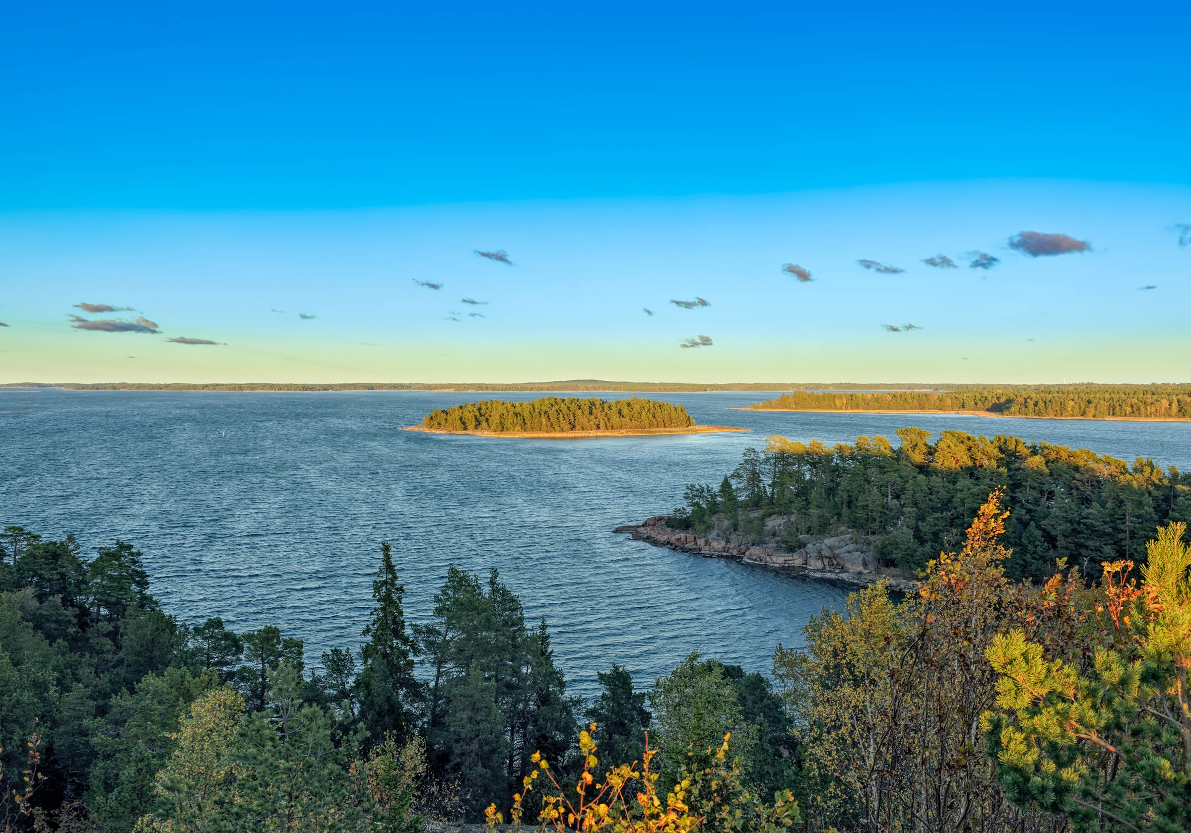 An aerial view of Aland Islands in Finland
