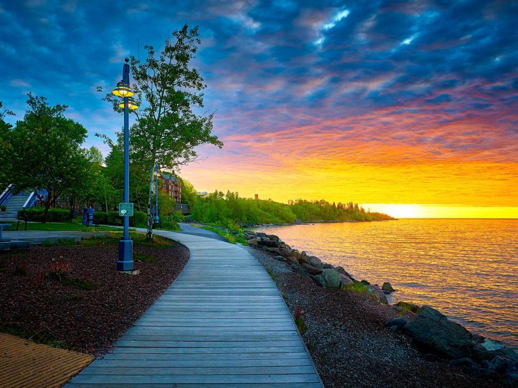 Early morning sunrise at Canal Park in Duluth