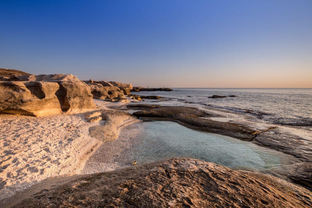 A photo of the shore of the Caspian Sea