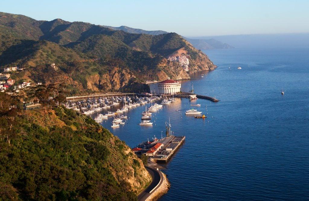 the bay on Catalina Island