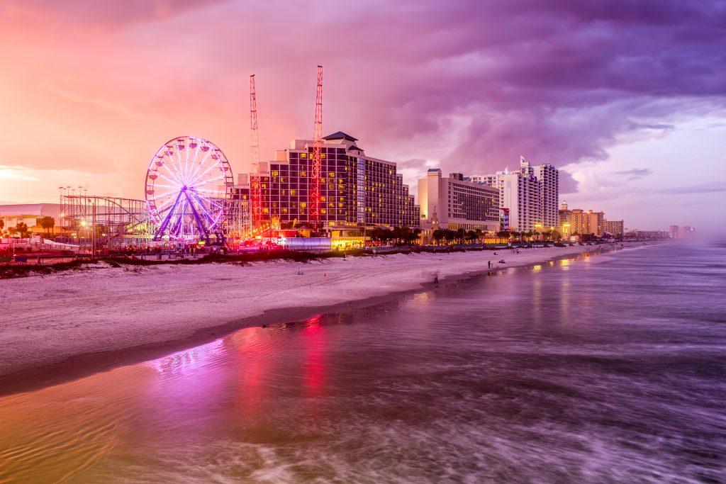 Daytona Beach evening skyline
