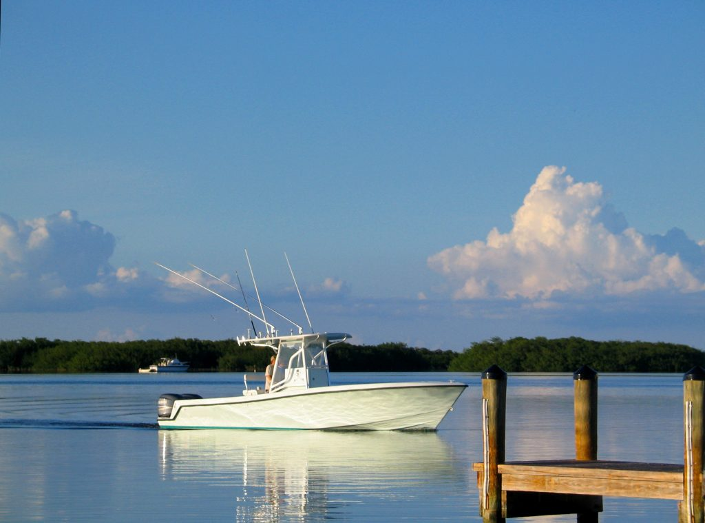 A charter boat on the inshore waters of Tampa, Florida