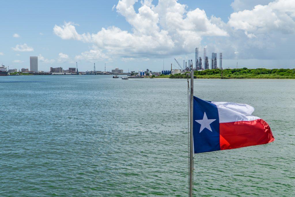 a view of Galveston Bay, Texas