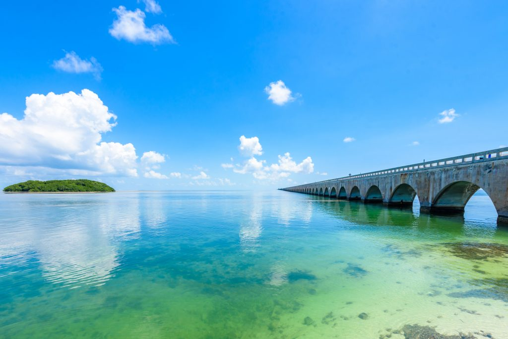 Long Key Bridge in Florida