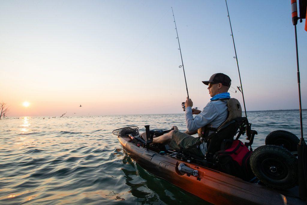 An angler kayak fishing in the Florida Keys