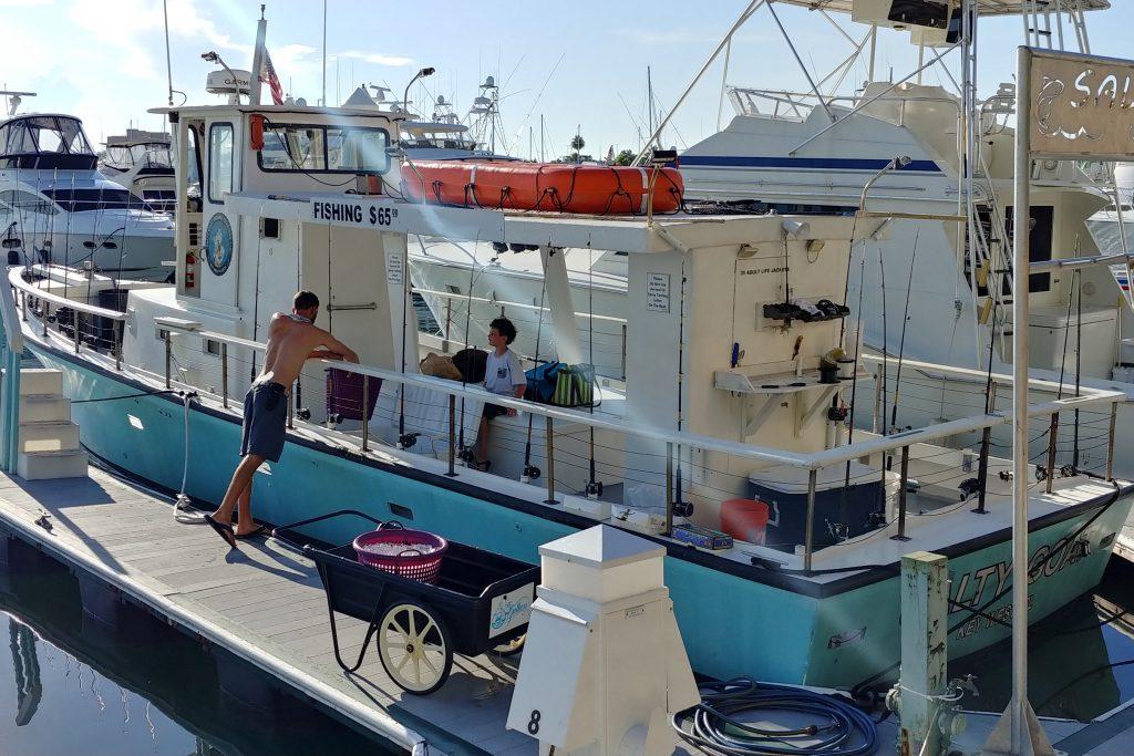 A party fishing boat in Key West, FL