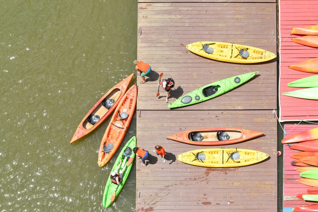 kayaks on a dock in DC
