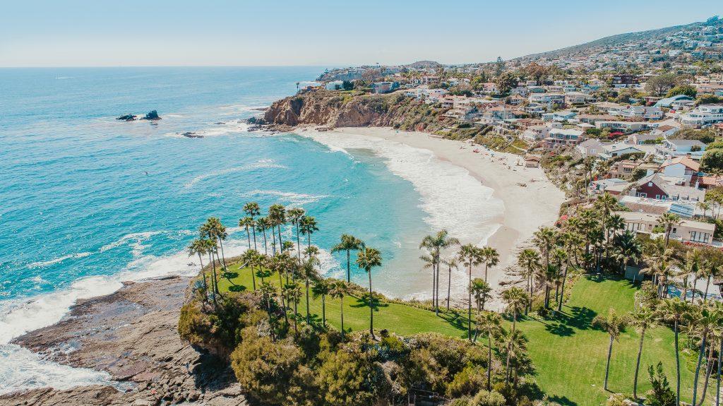 a scenic view of Laguna Beach, California