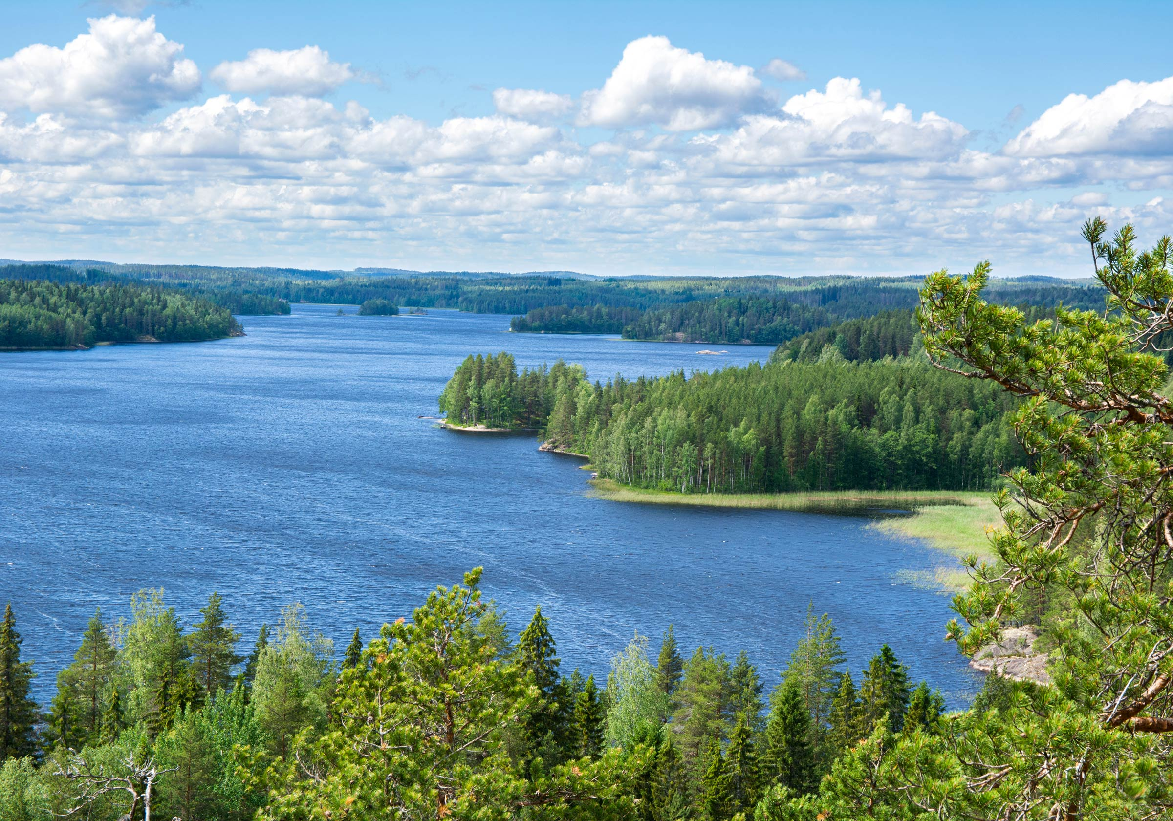 An aerial view of Finnish Lakeland