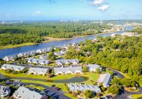 An aerial view of Little River, SC, one of the most up-and-coming fishing towns in the US.