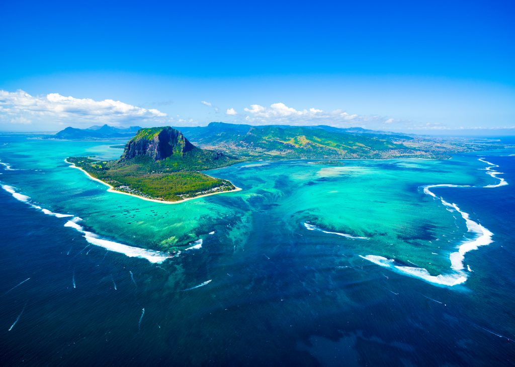 mauritius deep sea trench seen from above, best africa fishing destinations
