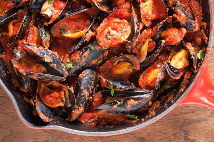mussels with tomatoes