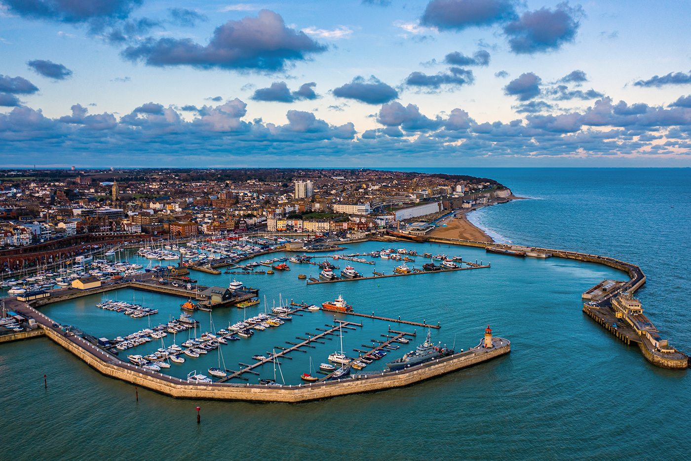 An aerial view of Ramsgate Harbour