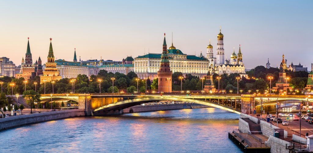 A view of Moscow from the river
