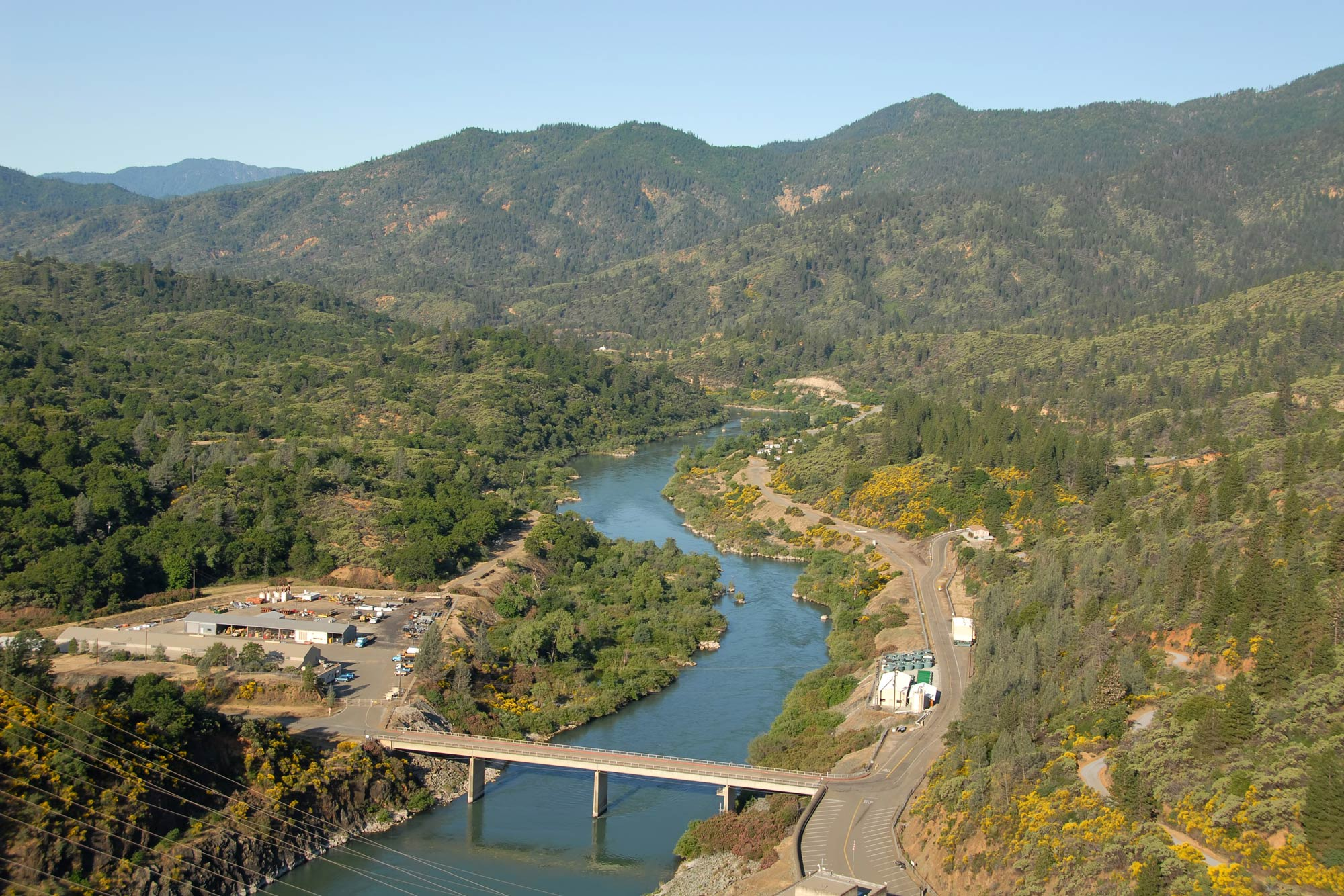 An aerial view of the Upper Sacramento River