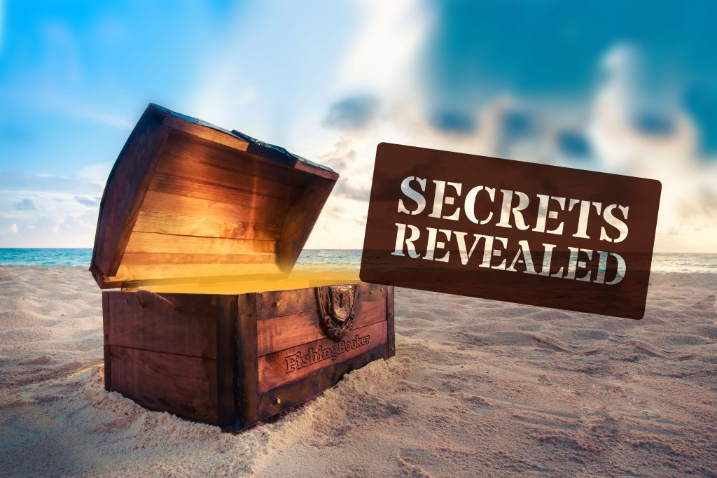 Treasure chest with text reading Ssecrets revealed