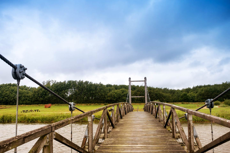The bridge over the Skjern River, a mecca for Salmon fishing in Denmark.