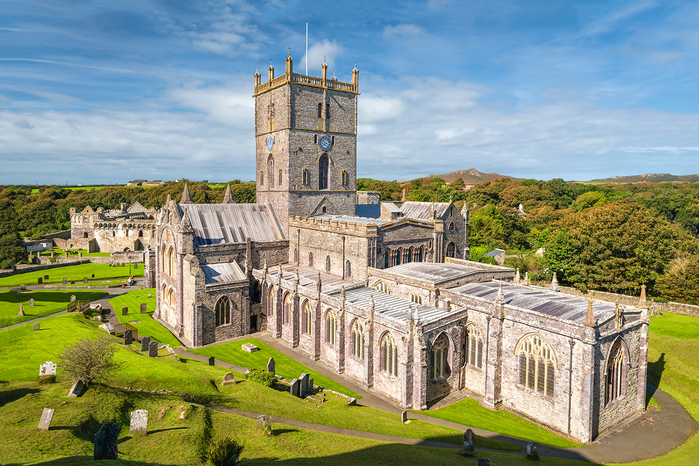 St Davids Cathedral in Pembrokeshire, Wales