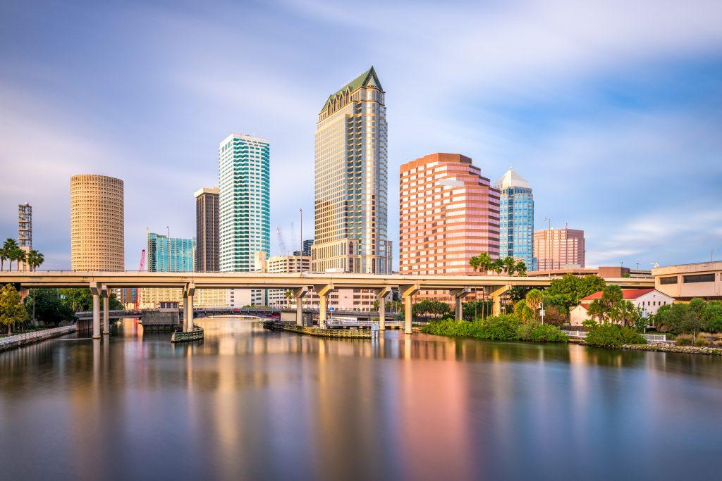 The skyline of Tampa, Florida