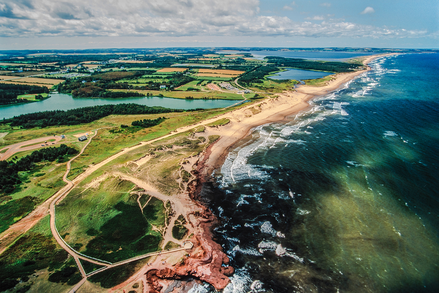 An aerial view of Prince Edward Island, Canada