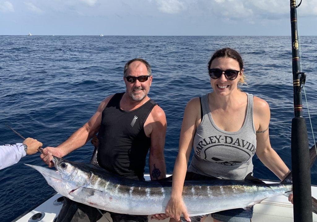 A large Striped Marlin caught on a Virginia Beach fishing trip