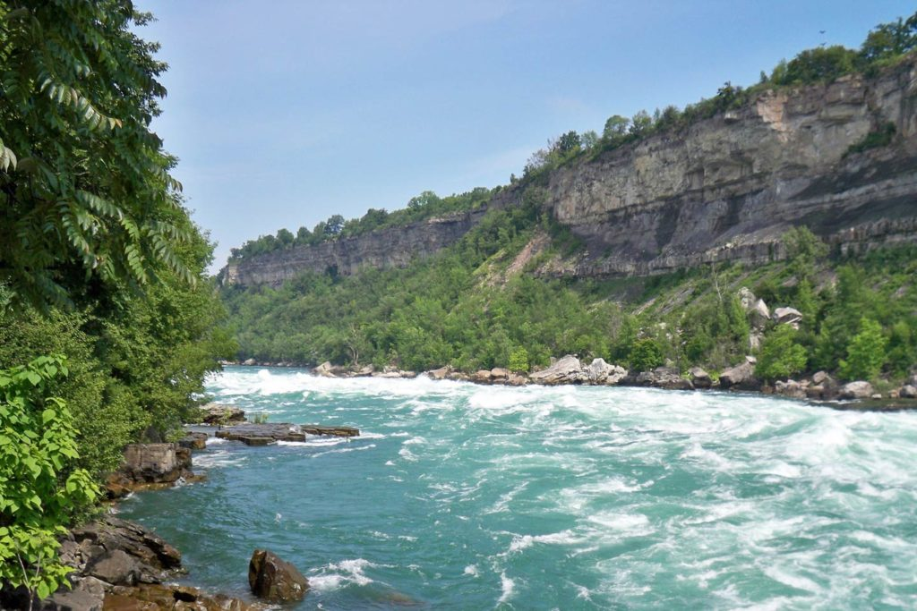 A section of the Lower Niagara River on the Canadian side of the border.