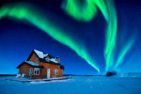 aurora borealis on great slave lake