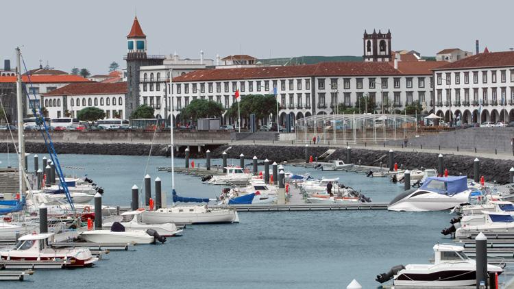 Ponta Delgada, capital city of the Azores