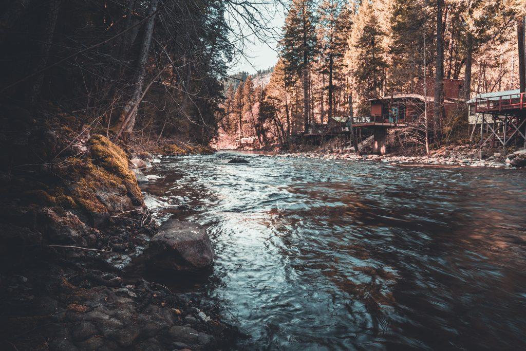 a cabin on the sacramento river