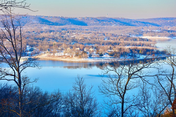 View of Branson, Missouri and the Table Rock Lake