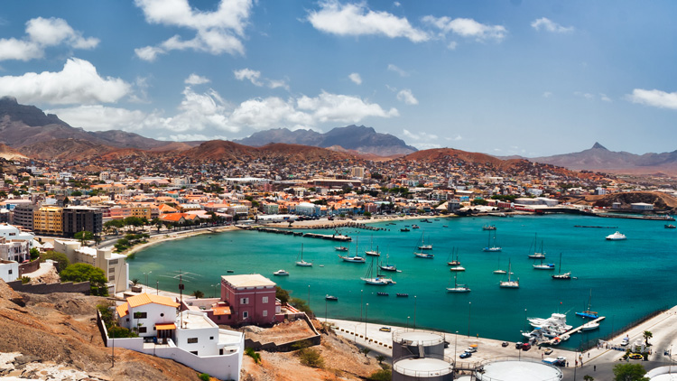 Cape Verde fishing: The town of Mindelo