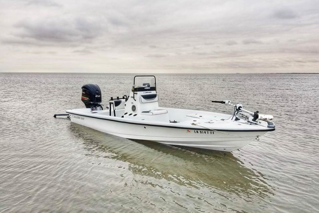 A charter boat ready to take anglers out on the water in Lake Charles.