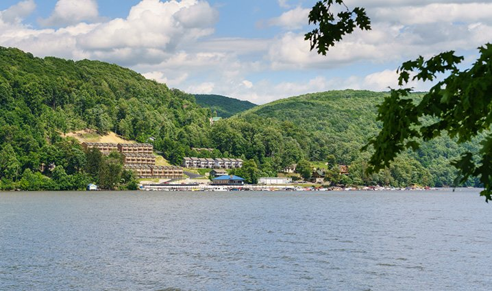 View of the Cheat Lake and beaches