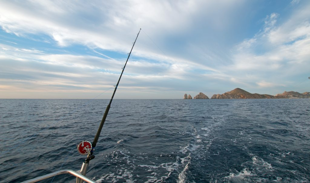 a fishing boat, trolling near cabo san lucas